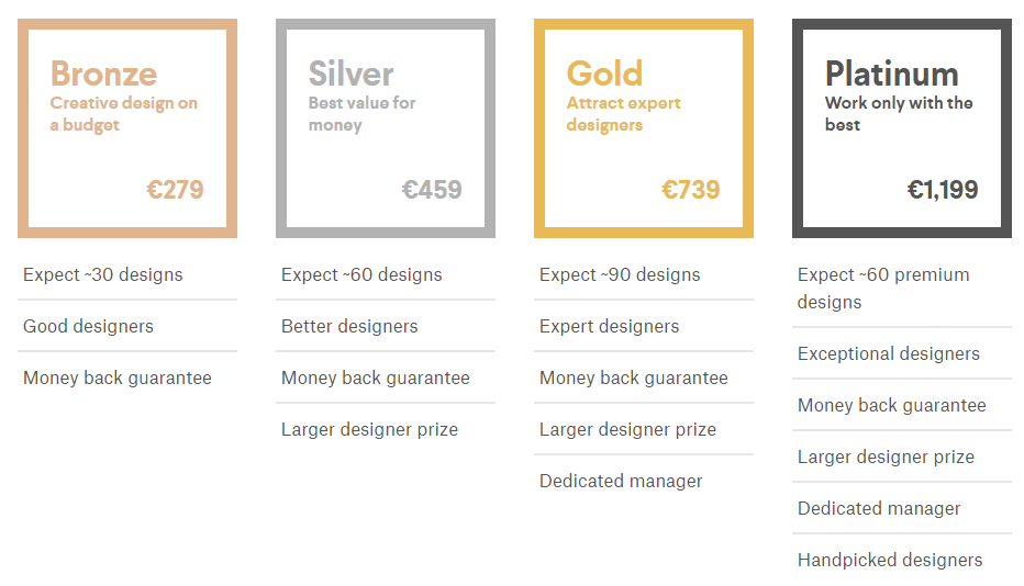 99designs pricelist