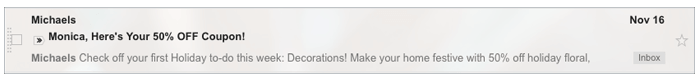not personalised email