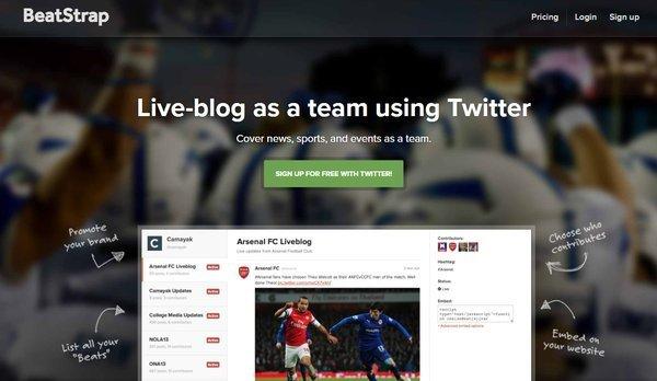 Beatstrap Twitter tool