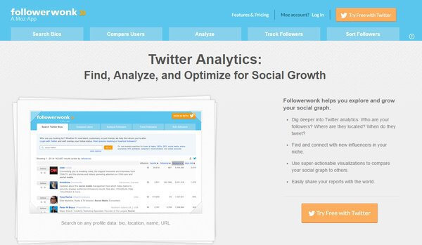 Followerwonk Twitter Tool