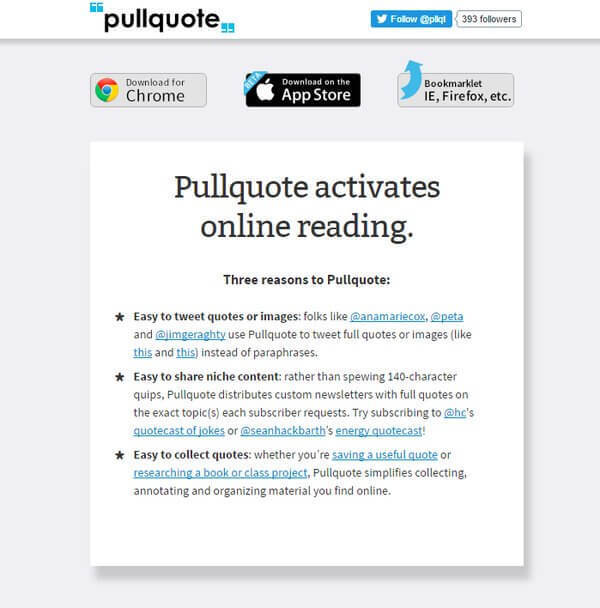Pullquote  Twitter extension