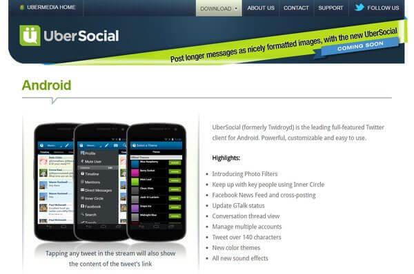 Ubersocial Twitter tool