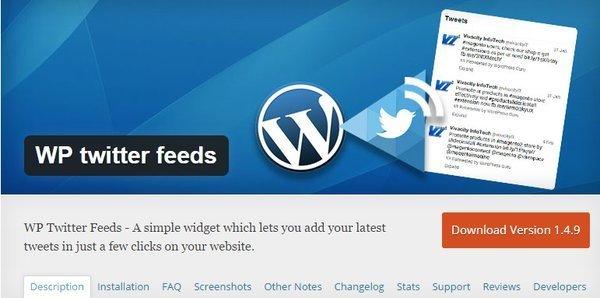 WP Twitter feed plugin