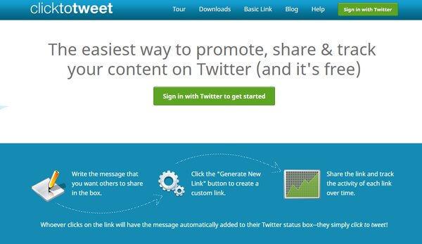 clicktotweet Twitter tool