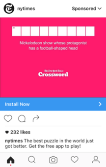 NYTimes instagram ad